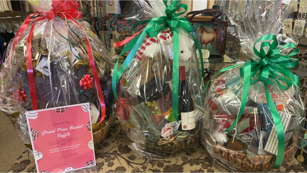 Enter to win prize baskets at the Chocolate Walk