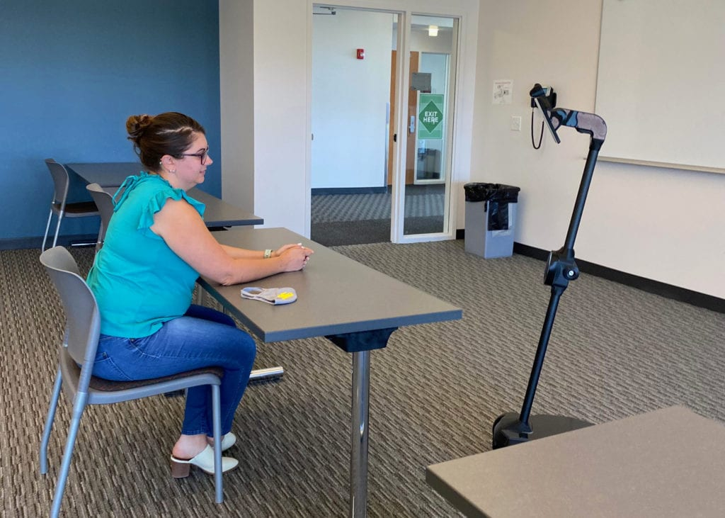 Ohmni robot allows students to engage with classmates virtually