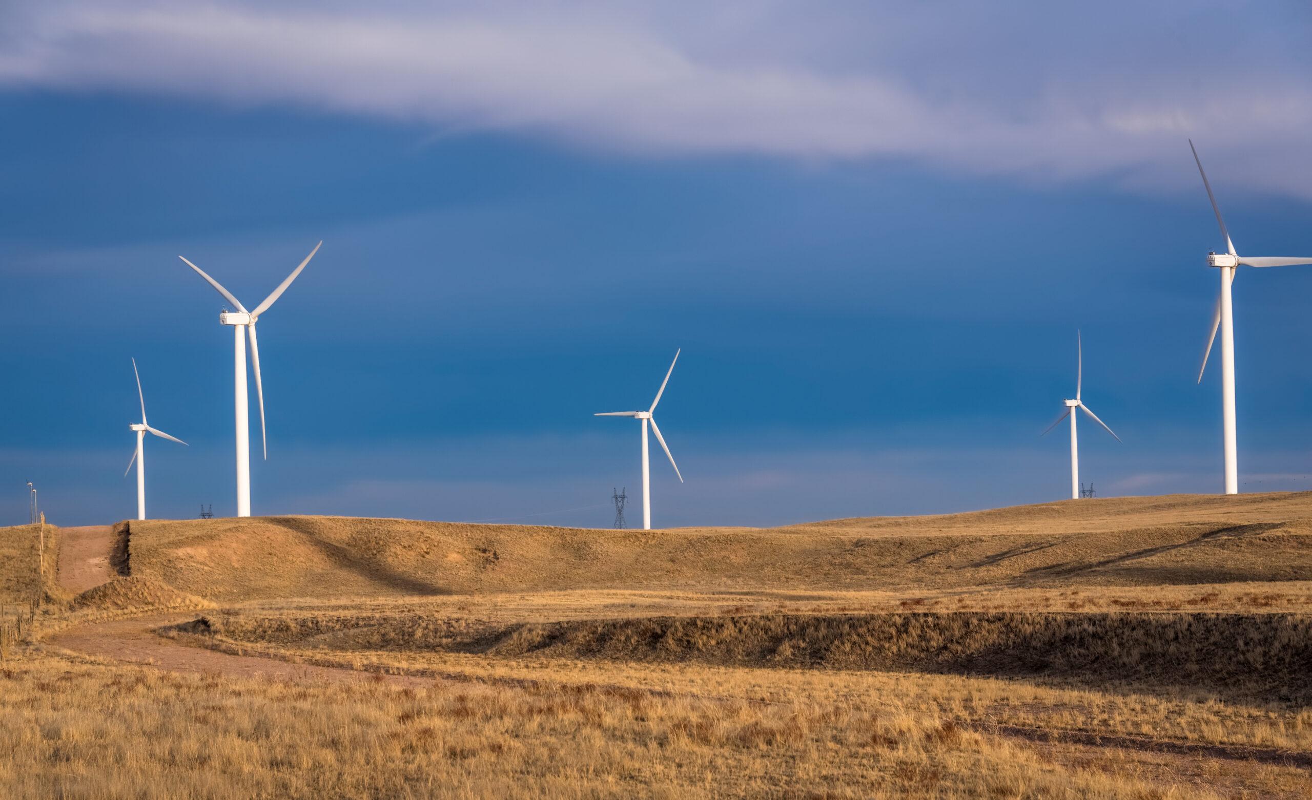 Wind turbines in Wyoming